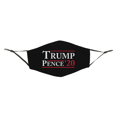Trump Pence '20 Black Reusable Face Cover