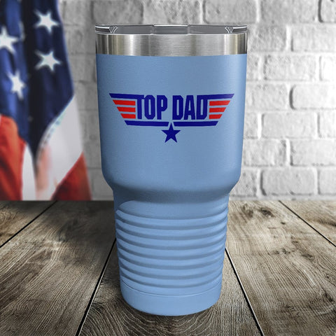 Top Dad Color Printed Tumbler