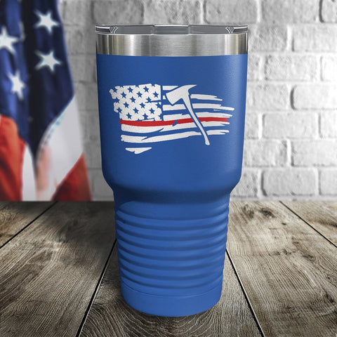 Thin Red Line Tethered Flag Color Printed Tumbler