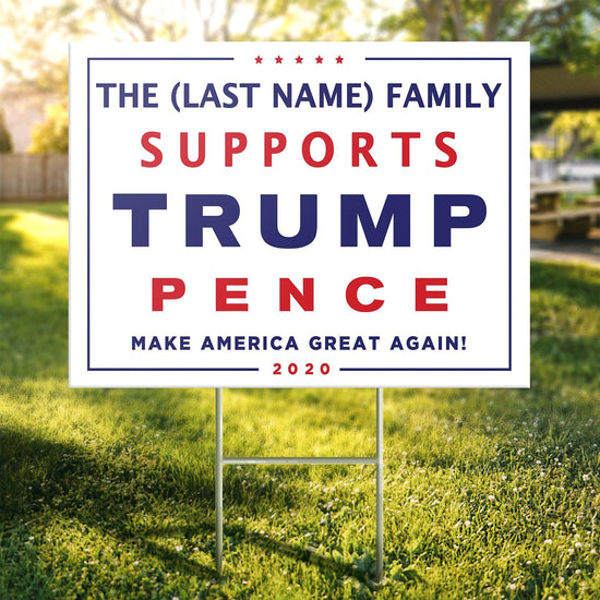 Personalized Trump Family Yard Sign