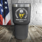 When Tyranny Becomes Law Color Printed Tumbler