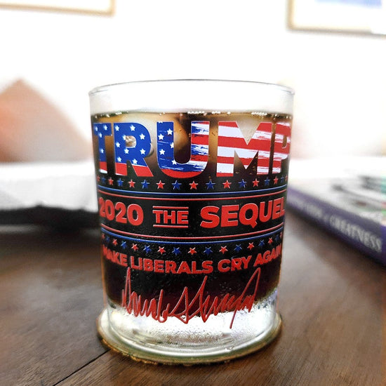 Trump The Sequel Signature Flag Glassware