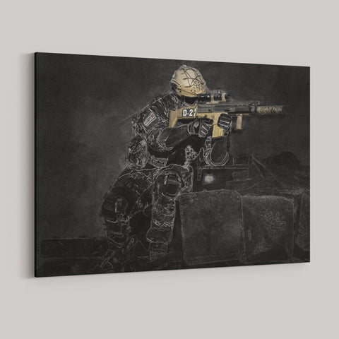 3D Sketch Custom Premium Canvas