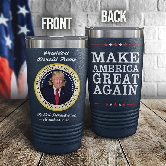 President of the US Seal Color Printed Tumbler