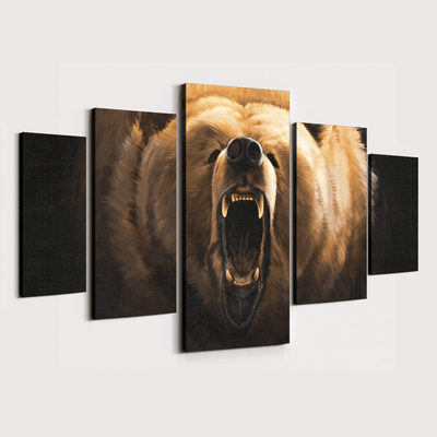 Bear Roar Premium Canvas