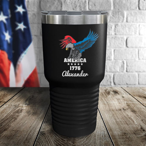 America Eagle Personalized Color Printed Tumbler