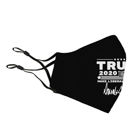 Trump 2020 The Sequel Signature Black Reusable Face Cover