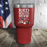 Red, White & Brew Color Printed Tumbler