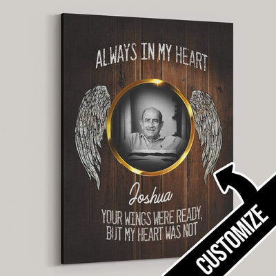 Always In My Heart Personalized Canvas