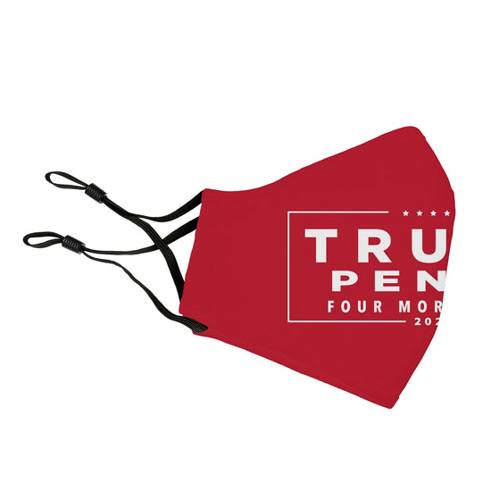 Trump Pence 4 More Years Reusable Face Cover