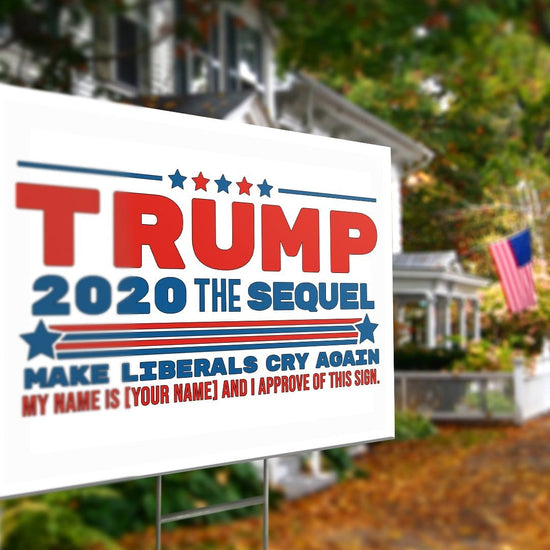 Personalized Trump The Sequel Yard Sign