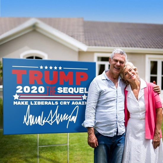 Trump The Sequel Signature Blue Yard Sign