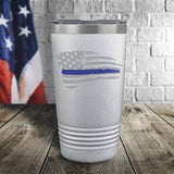 Thin Blue Line Tethered Flag Color Printed Tumbler