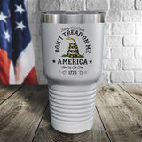 Don't Tread On Me Color Printed Tumbler