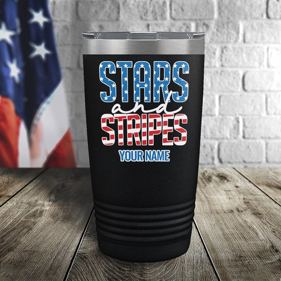 Stars and Stripes Personalized Color Printed Tumbler