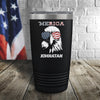 Merica Eagle Personalized Color Printed Tumbler