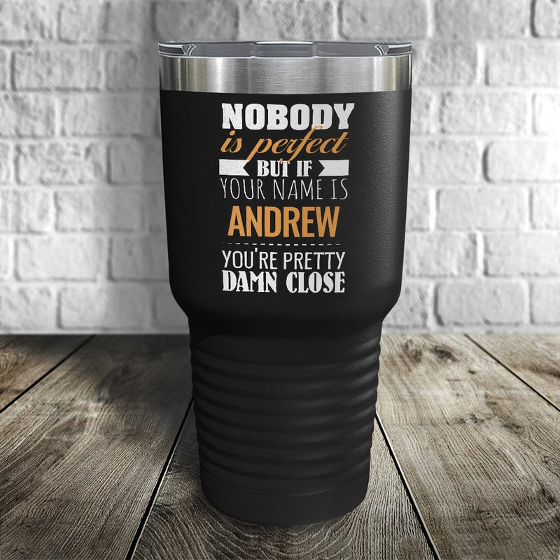 Nobody's Perfect Personalized Color Printed Tumbler