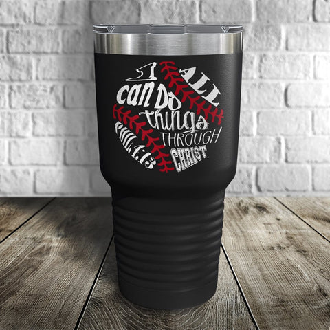 I Can Do All Things Color Printed Tumbler