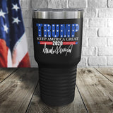 Trump 2020 Keep America Great Color Printed Tumbler