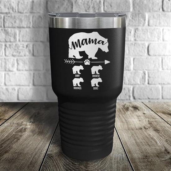 Mama Bear Personalized Color Printed Tumbler