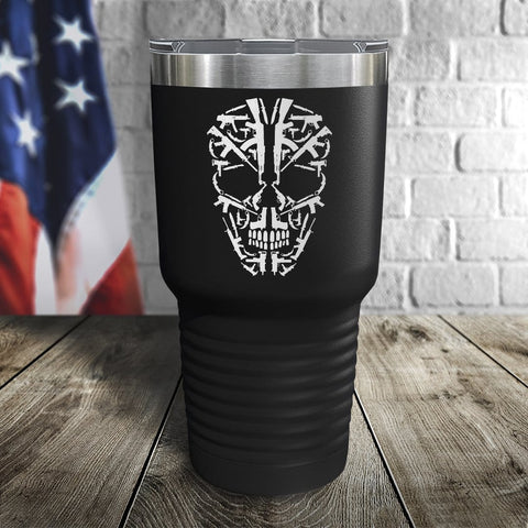 Skull of Guns Color Printed Tumbler