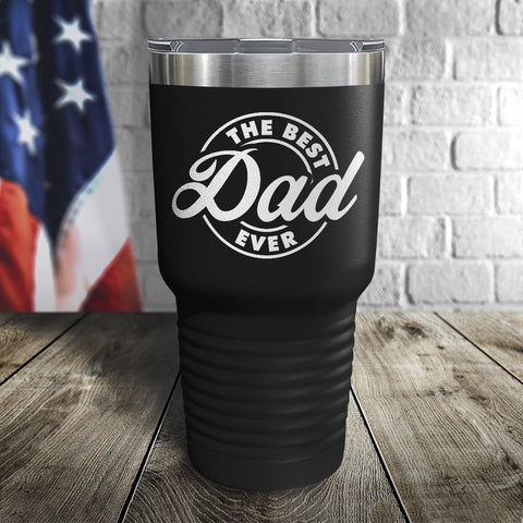 The Best Dad Ever Color Printed Tumbler