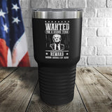SALE! Trump Wanted For A Second Term Reward Making Liberals Cry Again Color Printed Tumbler