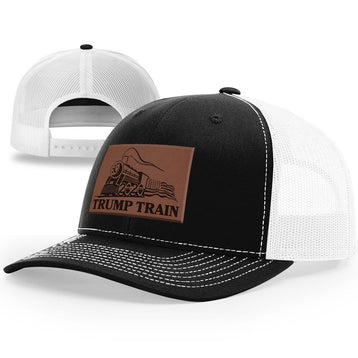 Trump Train Hat Leather Patch Hat