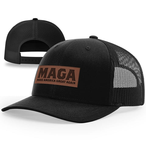 MAGA Leather Patch Hat