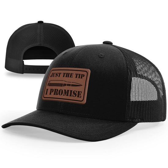 Just The Tip Leather Patch Hat