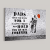 "Street Art ""Dad and Son"" Premium Canvas"