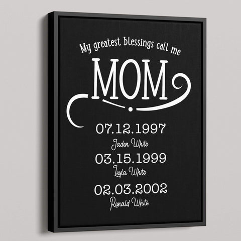 My Greatest Blessings Call Me Mom Personalized Canvas - Patriot Republic