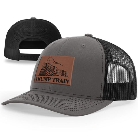 Trump Train Leather Patch Hat