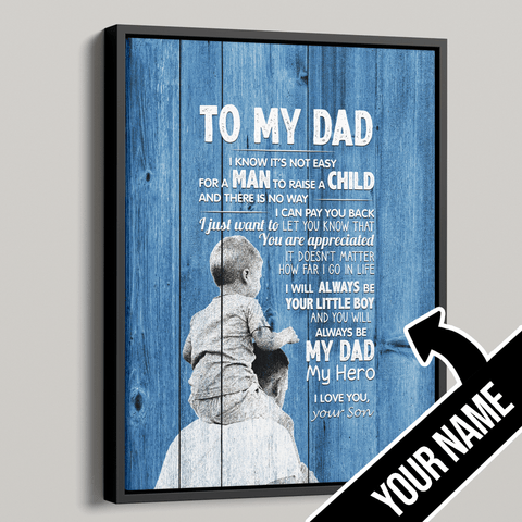 To My Dad Personalized Premium Canvas - Gift from Son