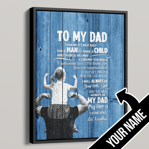 To My Dad Personalized Premium Canvas - Gift from Daughter