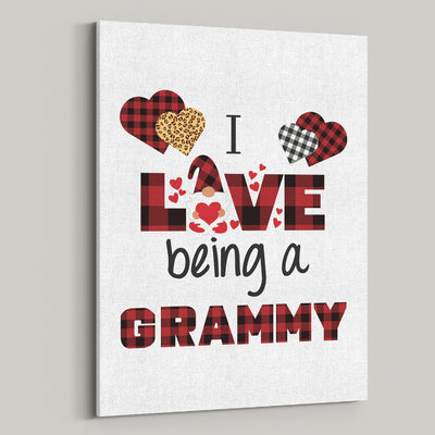 I Love Being A Grammy Gnome Personalized Canvas - Patriot Republic