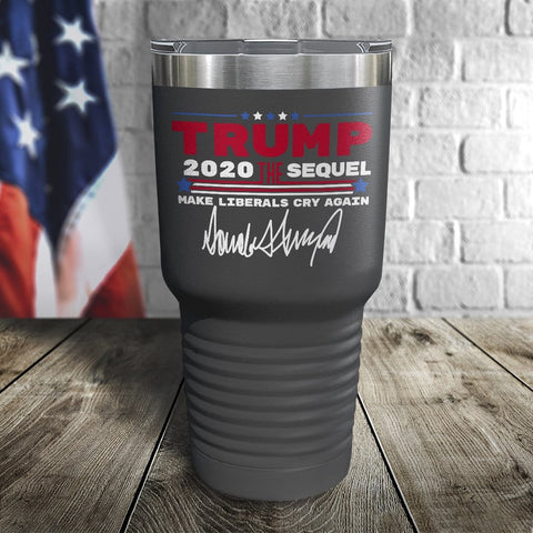 Trump 2020 The Sequel Signature Grey 30oz Color Printed Tumbler