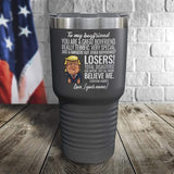 SALE! Great Boyfriend Personalized Color Printed Tumbler