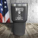 SALE! Trump Wanted For A Second Term Reward Keep America Great Color Printed Tumbler