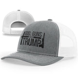 God, Guns And Trump Hat - Patriot Wear