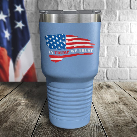 In Trump We Trust Color Printed Tumbler