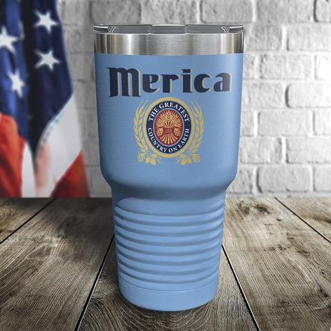 Merica The Greatest Country on Earth Color Printed Tumbler