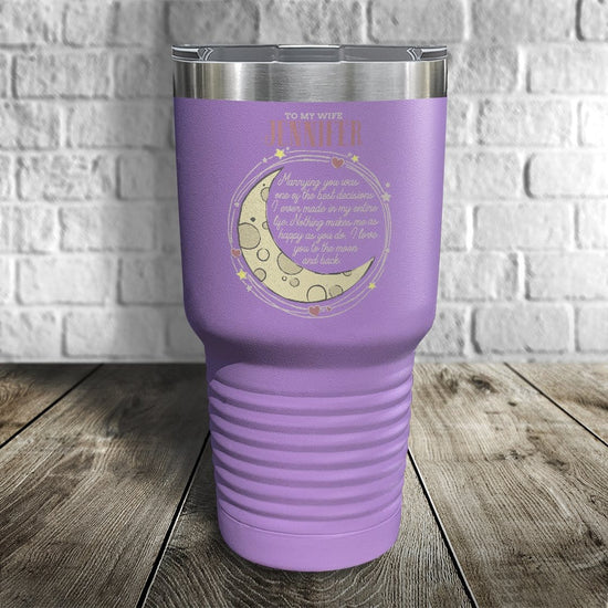 To My Wife Personalized Color Printed Tumbler