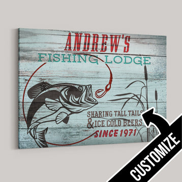 Your Fishing Lodge Canvas