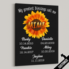 My Greatest Blessings Call Me Mimi Sunflower Canvas - Patriot Republic