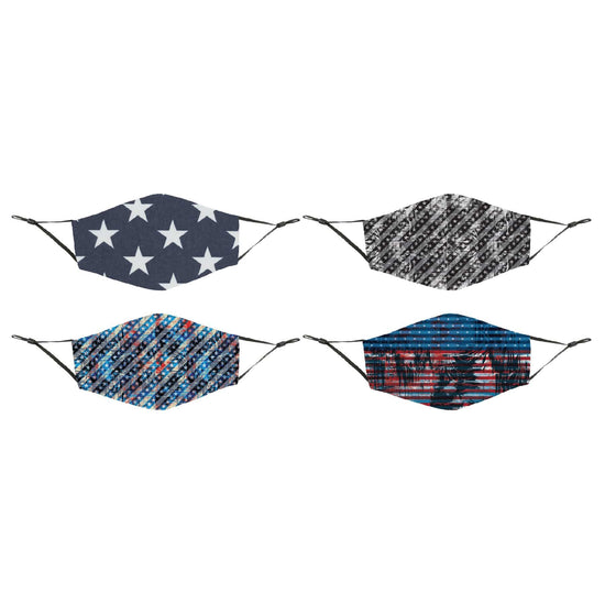 4-Pack Patriotic Reusable Face Cover