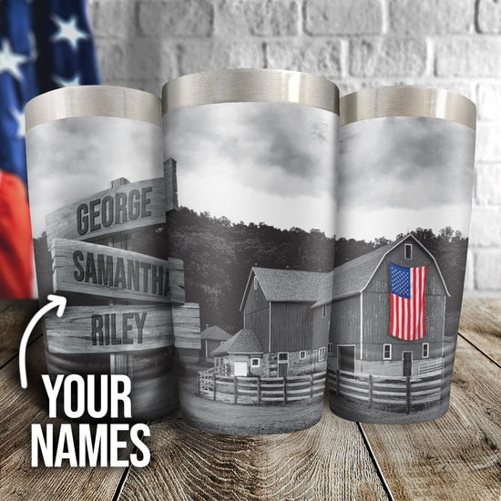 American Barn Personalized Full Color Wrap Tumbler