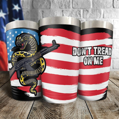 Don't Tread On Me US Flag Full Color Wrap Tumbler