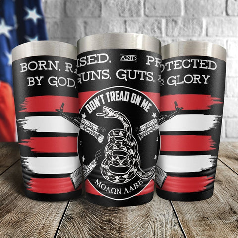 God, Guns, Guts and Glory Full Color Wrap Tumbler