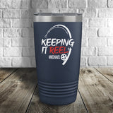 Keeping it Reel Personalized Color Printed Tumbler